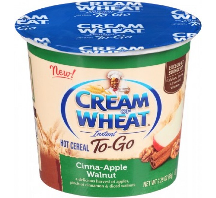 Cream Of Wheat Instant Hot Cereal To-Go, Cinna-Apple Walnut (65g)