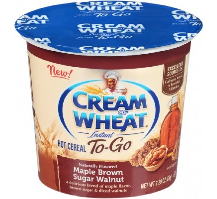 Cream Of Wheat Hot Cereal To-Go Cup, Maple Brown Sugar Walnut (65g)