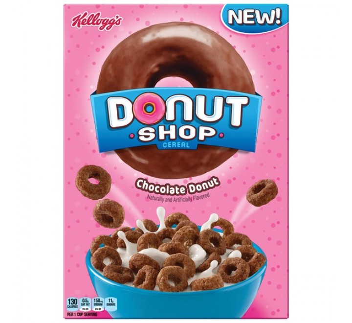 Kellogg's Donut Shop Cereal, Chocolate Donut (283g) USfoodz