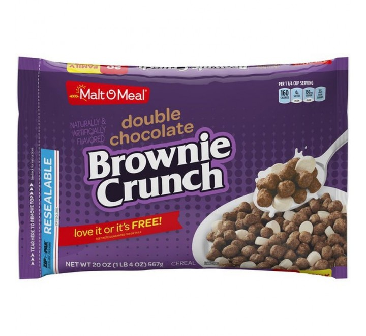 Malt-O-Meal Double Chocolate Brownie Crunch (567g)