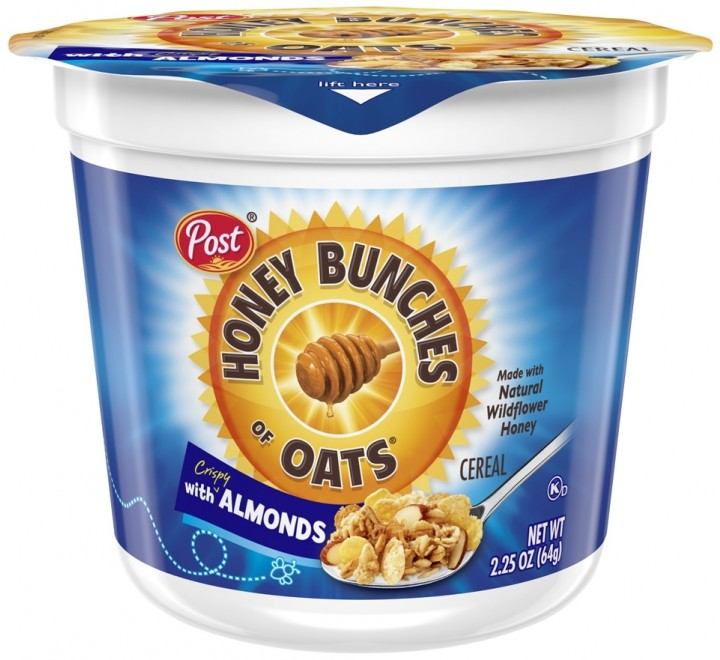 Post Honey Bunches Of Oats, With Almonds Cereal Cup (64g)