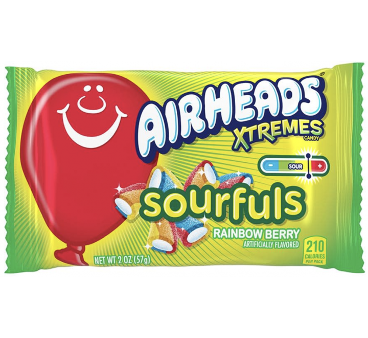 Air Heads Xtremes Sourfuls, Rainbow Berry (57g)