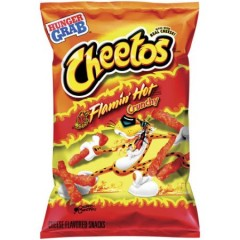 Cheetos Crunchy Flamin' Hot, Large Bag (227g) (BEST BY DATE: 28-02-2021)