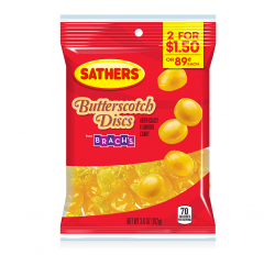 Sathers Butterscotch Discs (102g)